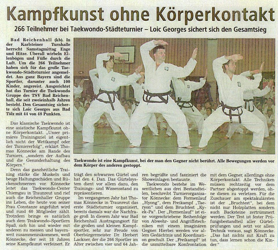 koreanisches Karate und Selbstverteidigung in Bad Reichenhall