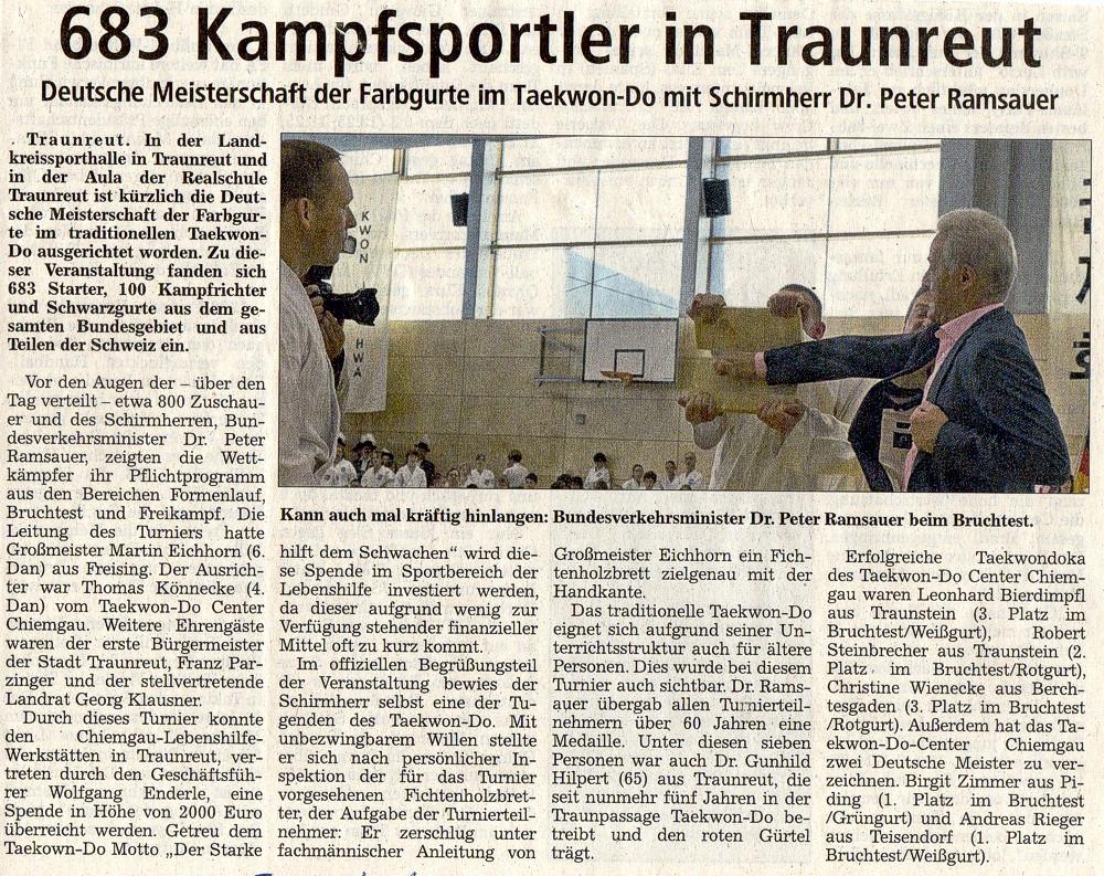 Taekwondo Bundesturnier in Traunreut
