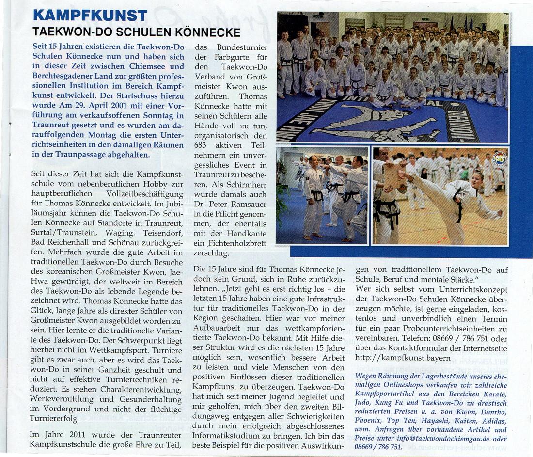 Kampfsport und Selbstverteidigung in Traunreut